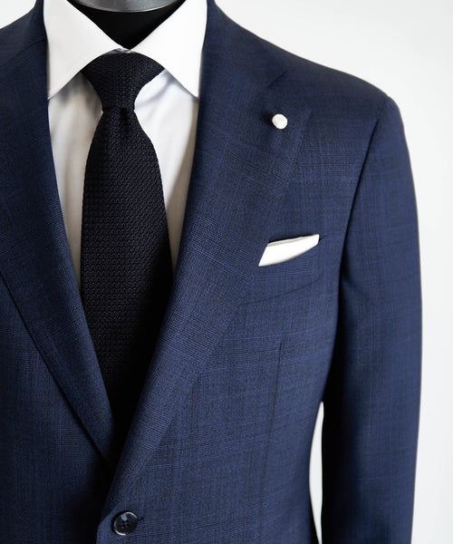 DRAGO 160'S CHECK SUIT / INDIGO