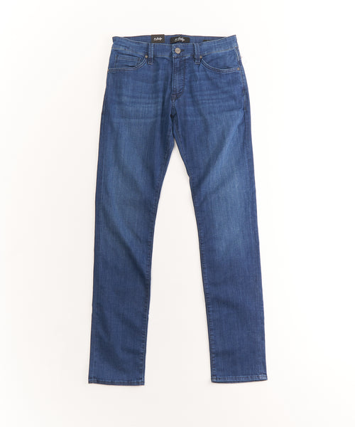 COOL' WASHED TAPERED JEANS / BLUE