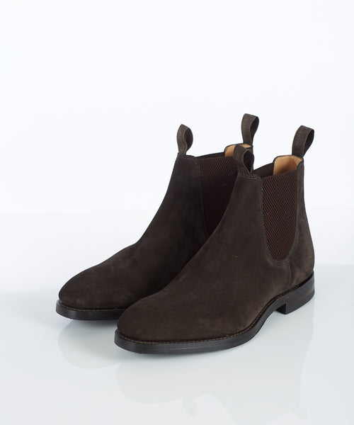 CHATSWORTH SUEDE CHELSEA BOOT / DARK BROWN