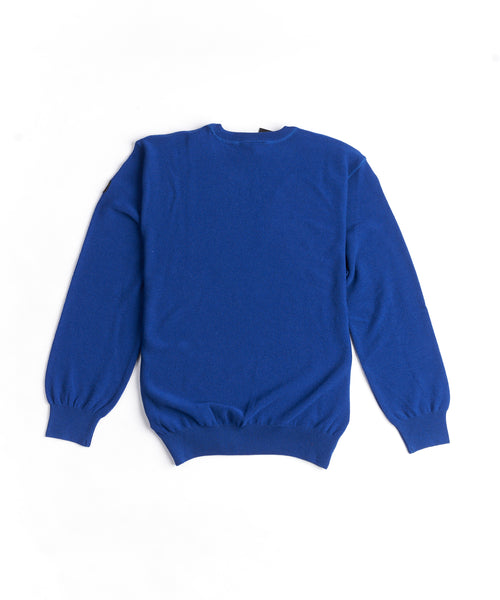 WOOL CREWNECK SWEATER / BLUE