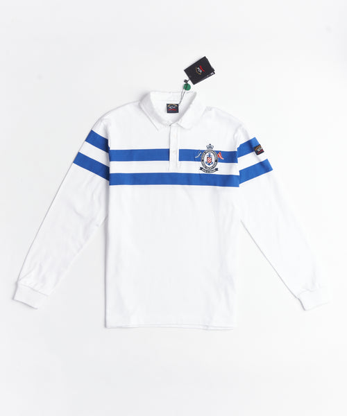 OCEAN INTERNATIONAL R.Y.C. LONG SLEEVE POLO / MULTI