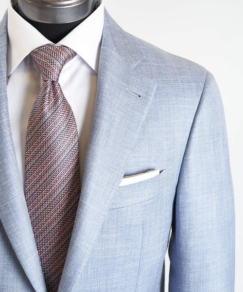 HERRINGBONE SPORT JACKET / LIGHT BLUE