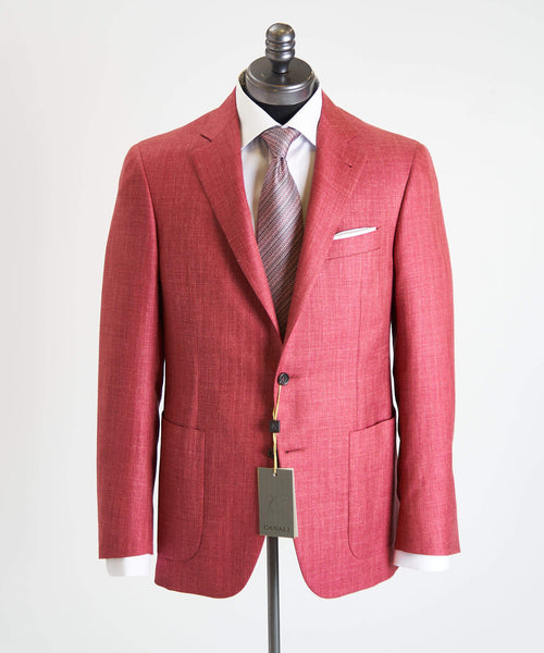 HERRINGBONE SPORT JACKET / FUSCHIA