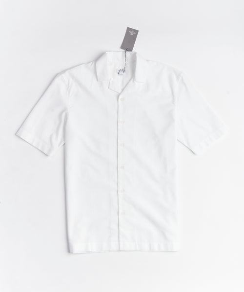 SHORT SLEEVE MESH CAMP COLLAR SHIRT / WHITE
