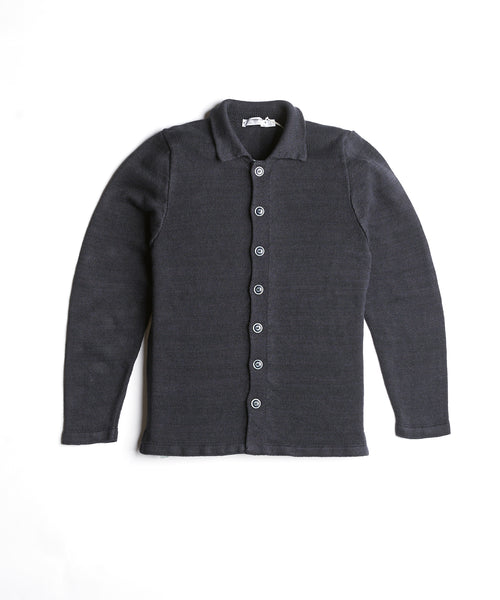 Inis Meain Washed Black Linen Shirt Jacket S2009-NAVAN