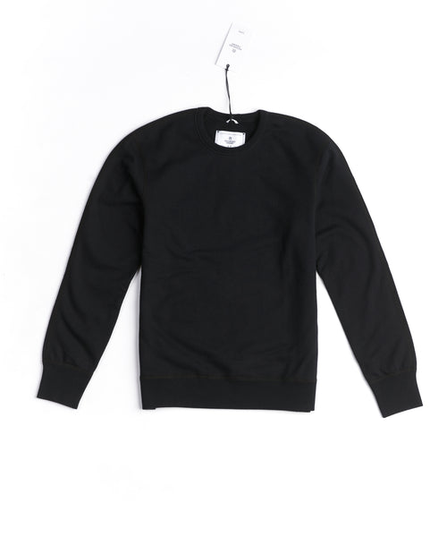 Reigning Champ RC-3207-BLACK Midweight Terry Crewneck Sweater