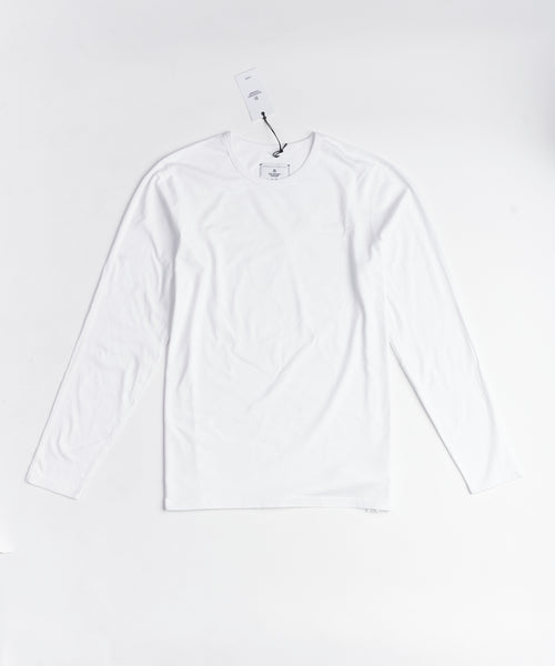 Reigning Champ PIMA RC-2087-WHITE Long Sleeve T-Shirt