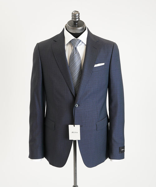 SHADOW CHECK SUIT DROP 7 / BLUE