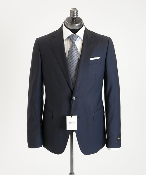 BASKETWOVEN SUIT DROP 8 / NAVY