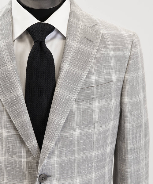HOPSACK CHECK SPORT JACKET DROP 7 / SILVER