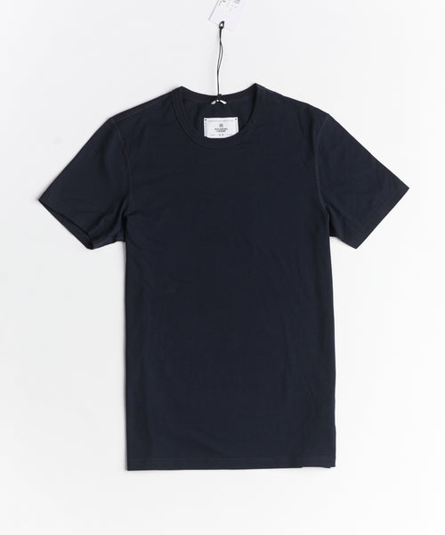 Reigning Champ RC-1028-7-NAVY Jersey Crew T-Shirt