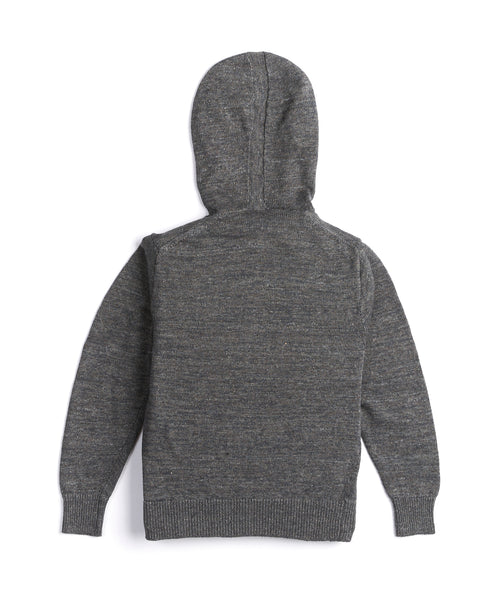 Inis Meain Washed LInen Grey Hoodie S1028-HAZEL