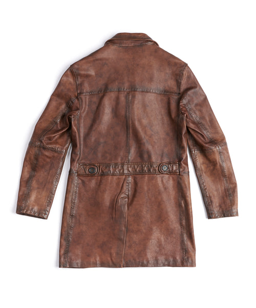 LED ZEPPELIN SHEEPSKIN 3/4 LENGTH LEATHER JACKET / ESPRESSO