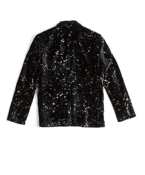LED ZEPPELIN BLOTCHED VELVET JACKET / BLACK