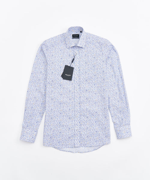 BICYCLE PRINT LONG SLEEVE SHIRT / MULTI