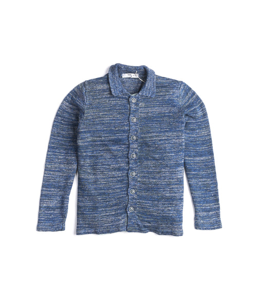 Inis Meain S2009-MACKEREL Unwashed Linen Shirt Jacket