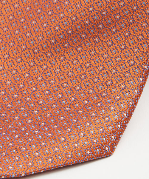 MINI NEAT DOT NECKTIE / ORANGE