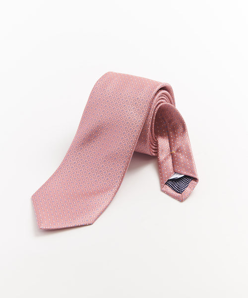 MINI NEAT DOT NECKTIE / PINK
