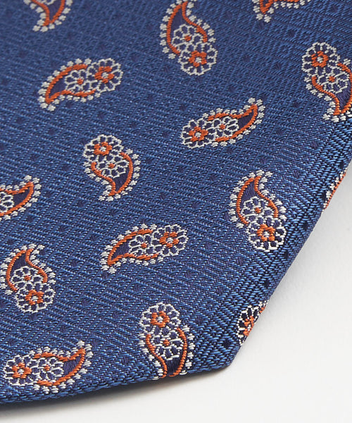 SPACED OUT PAISLEY NECKTIE / BLUE