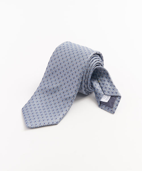 NEAT SHARP JACQUARD NECKTIE / LIGHT BLUE