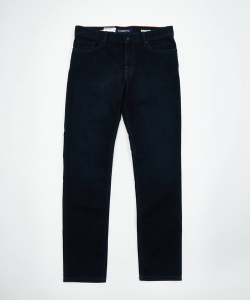 PIPE' T400 DARK RINSE DENIM / BLUE