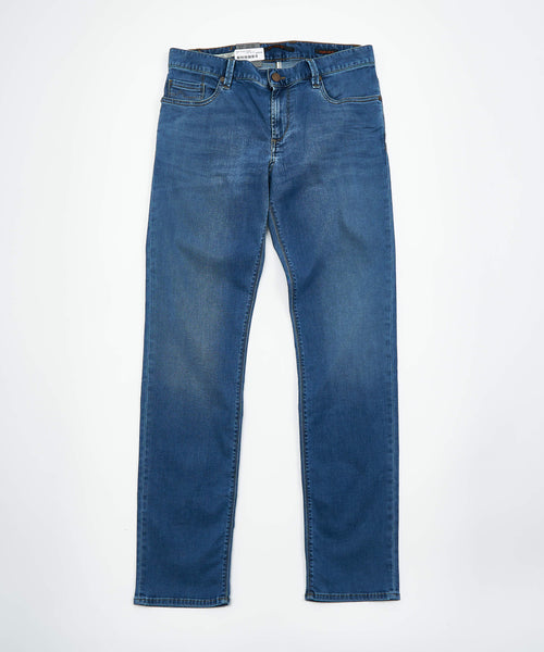 PIPE' FIT DYNAMIC SUPERFIT WASHED DENIM / LIGHT BLUE