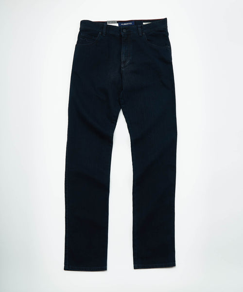 STONE' MODERN FIT DARK RINSE DENIM / BLUE