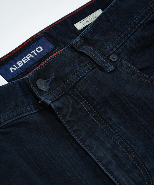 'STONE' MODERN FIT DARK RINSE DENIM / BLUE