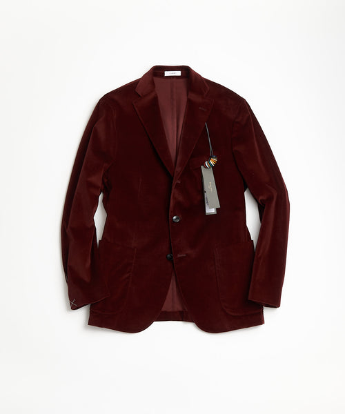 BOGLIOLI Bordeaux Red Velvet K Jacket