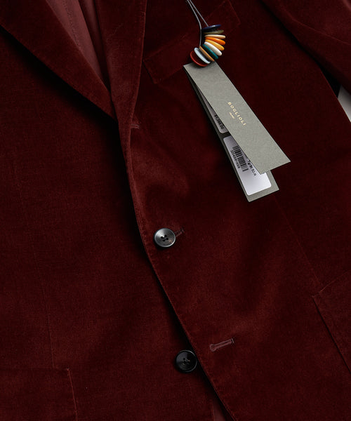 VELVET K JACKET / BORDEAUX
