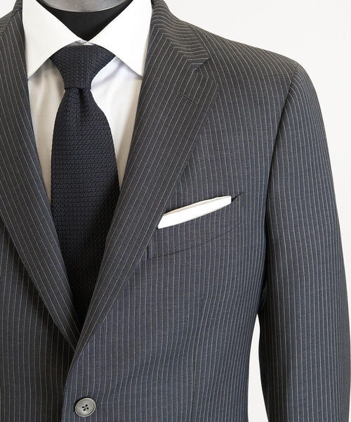 PINSTRIPE SUIT / BLUE/BLACK