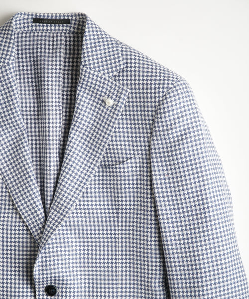 HOUNDSTOOTH JACKET / BLUE