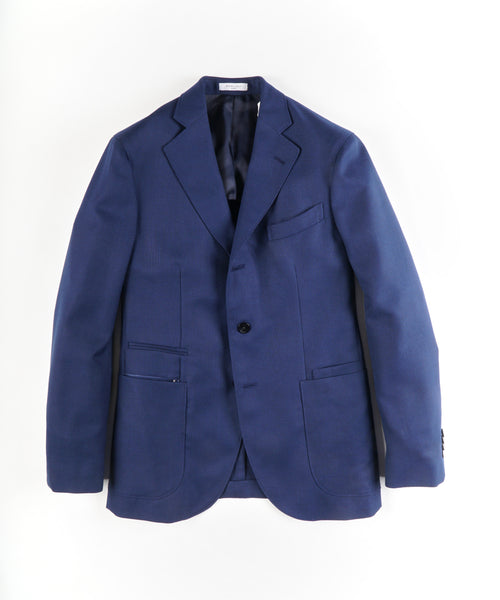 HOPSACK TRAVEL BLAZER / BLUE