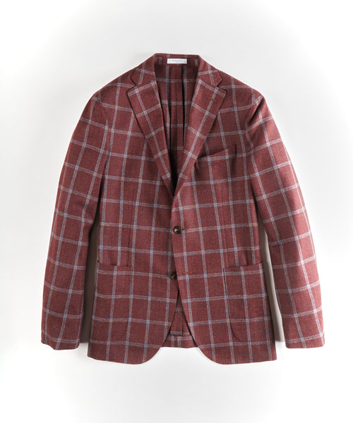 CHECK SPORT JACKET / BRICK