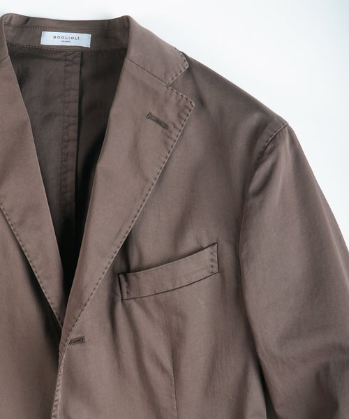 COMFORT SATIN COTTON BLAZER / BROWN