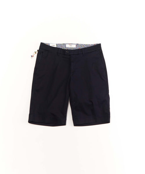 'BARRY' COTTON STRETCH SHORTS / NAVY