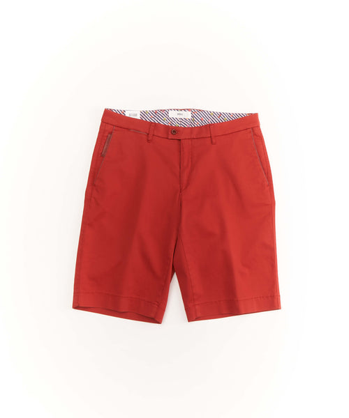 'BARRY' COTTON STRETCH SHORTS / RED