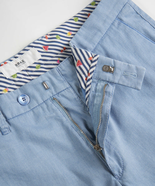 Brax Light Blue Barry Pinstripe Shorts