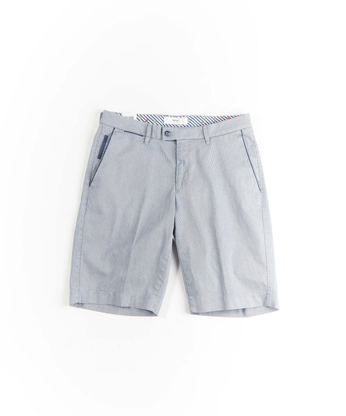 Brax Barry Navy Pinstripe Shorts