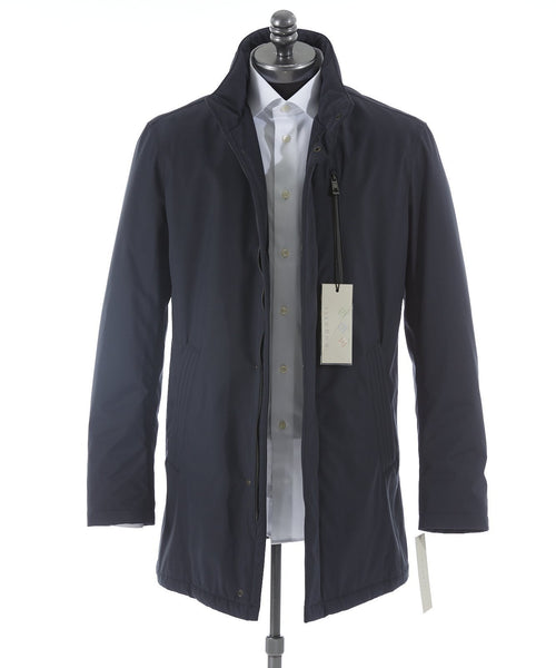"Bugatti Navy ""Rainseries"" Waterproof Winter Coat - Outerwear - Bugatti - LALONDE's"