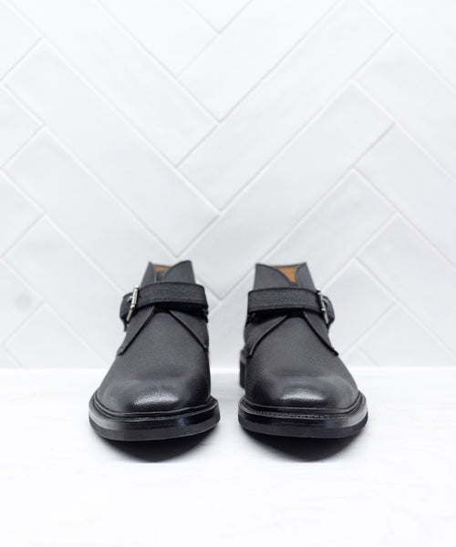 CHENE MONK-STRAP ANKLE BOOT / BLACK
