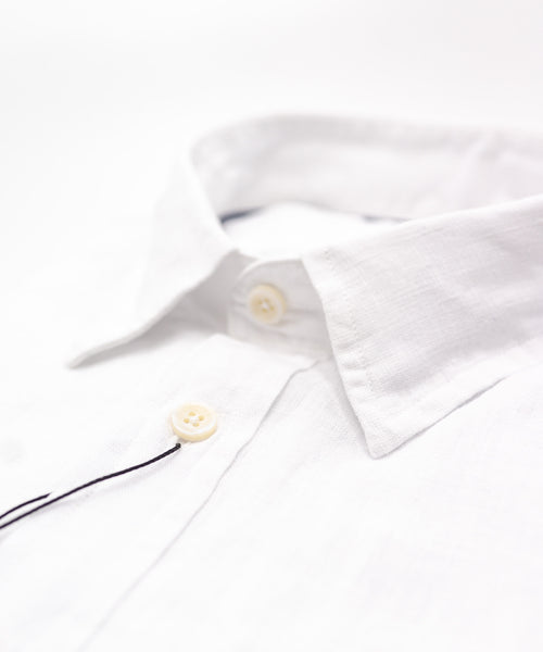 Benson White Linen Short Sleeve Shirt