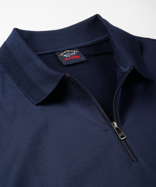 QUARTER ZIP DRESSY POLO / MULTI