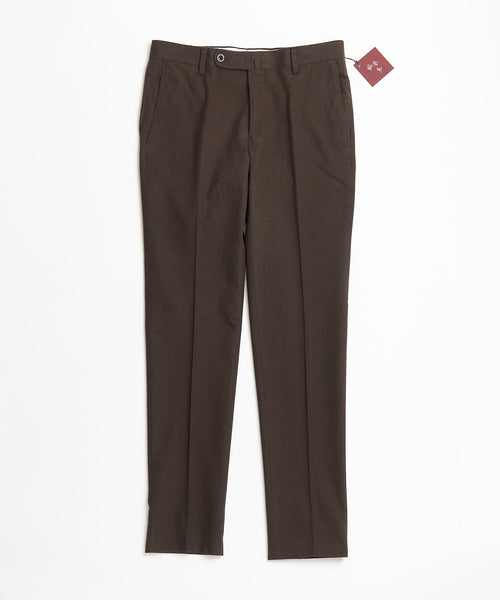 Echizenya Chocolate Cotton Herringbone Pants