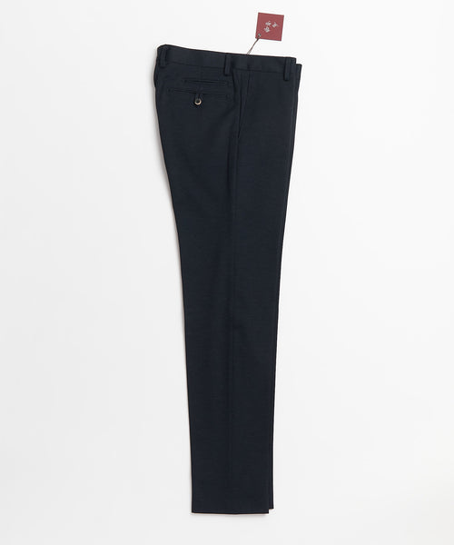 Echizenya Navy Cotton Stretch Japanese Trousers