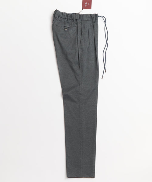 Echizenya Tech Grey Drawstring Travel Double Pleat Pants