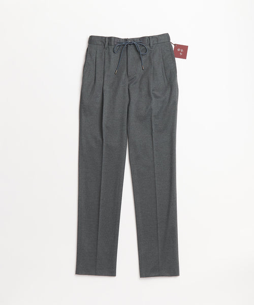Echizenya Tech Grey Drawstring Travel Double Pleat Trousers
