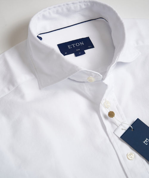 SOFT ROYAL OXFORD SLIM SHIRT / WHITE