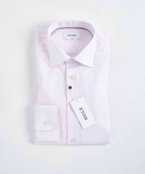 CHECKED CONTEMPORARY FIT SHIRT / PINK