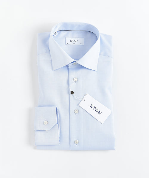 DIAMOND WEAVE SLIM SHIRT / LIGHT BLUE